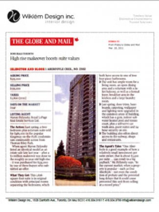 Globe & Mail March 2011